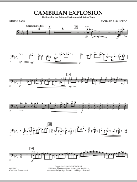 Cambrian Explosion - String Bass (Concert Band)