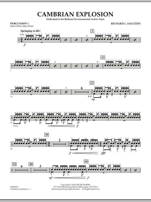 Cambrian Explosion - Percussion 1 (Concert Band)