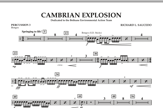 Cambrian Explosion - Percussion 3 (Concert Band)