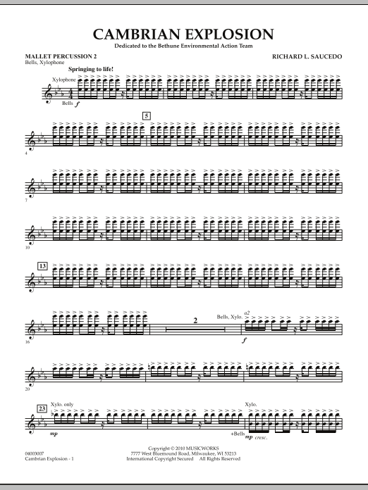 Cambrian Explosion - Mallet Percussion 2 (Concert Band)