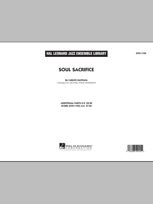 Soul Sacrifice (COMPLETE) sheet music for jazz band by Michael Philip Mossman and Carlos Santana. Score Image Preview.