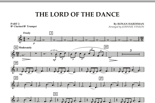 The Lord Of The Dance - Pt.2 - Bb Clarinet/Bb Trumpet (Concert Band: Flex-Band)