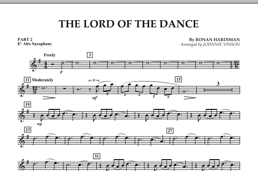 The Lord Of The Dance - Pt.2 - Eb Alto Saxophone (Concert Band: Flex-Band)