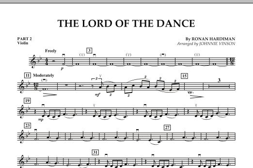 The Lord Of The Dance - Pt.2 - Violin (Concert Band: Flex-Band)
