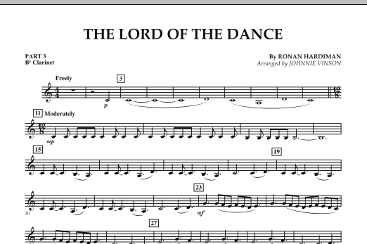 The Lord Of The Dance - Pt.3 - Bb Clarinet (Concert Band: Flex-Band)