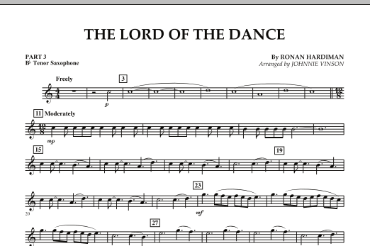 The Lord Of The Dance - Pt.3 - Bb Tenor Saxophone (Concert Band: Flex-Band)