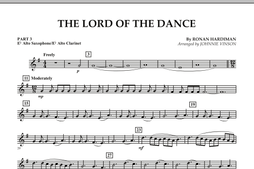 The Lord Of The Dance - Pt.3 - Eb Alto Sax/Alto Clar. (Concert Band: Flex-Band)