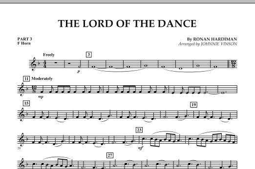 The Lord Of The Dance - Pt.3 - F Horn (Concert Band: Flex-Band)