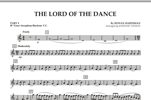 The Lord Of The Dance - Pt.4 - Bb Tenor Sax/Bar. T.C. (Concert Band: Flex-Band)