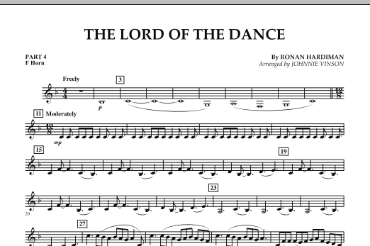 The Lord Of The Dance - Pt.4 - F Horn (Concert Band: Flex-Band)