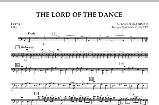 The Lord Of The Dance - Pt.4 - Cello (Concert Band: Flex-Band)