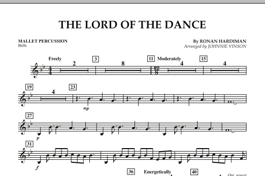 The Lord Of The Dance - Mallet Percussion (Concert Band: Flex-Band)