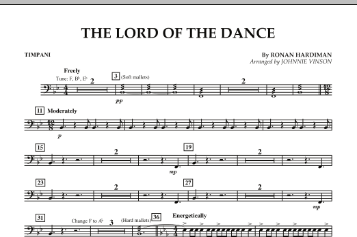 The Lord Of The Dance - Timpani (Concert Band: Flex-Band)
