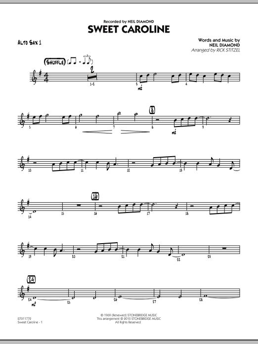 Sweet Caroline - Alto Sax 1 (Jazz Ensemble)