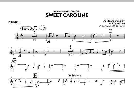 Sweet Caroline - Trumpet 1 (Jazz Ensemble)