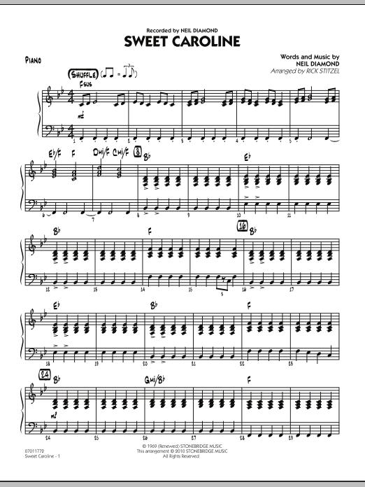 Sweet Caroline - Piano (Jazz Ensemble)