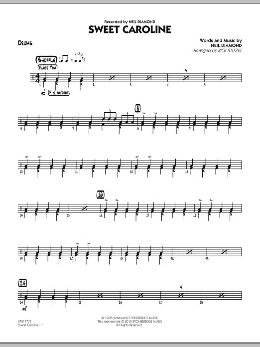 Sweet Caroline - Drums (Jazz Ensemble)