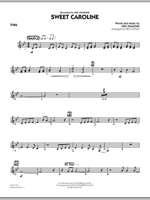 Sweet Caroline - Vibes (Jazz Ensemble)