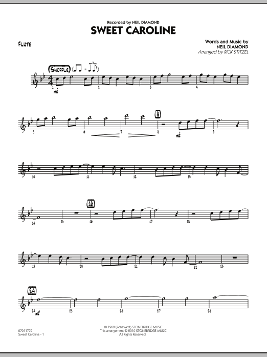 Sweet Caroline - Flute (Jazz Ensemble)