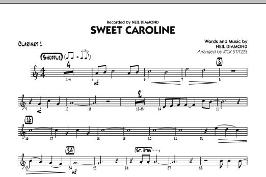 Sweet Caroline - Bb Clarinet 1 (Jazz Ensemble)