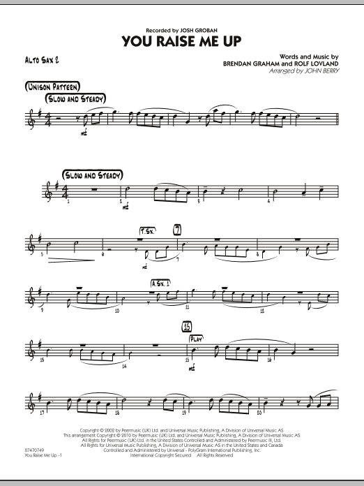 You raise me up sheet music for piano download free in pdf or midi.