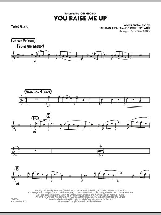 You Raise Me Up - Tenor Sax 2 (Jazz Ensemble)