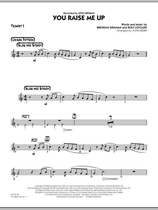 You Raise Me Up - Trumpet 3 (Jazz Ensemble)