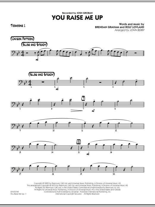 You Raise Me Up - Trombone 1 (Jazz Ensemble)