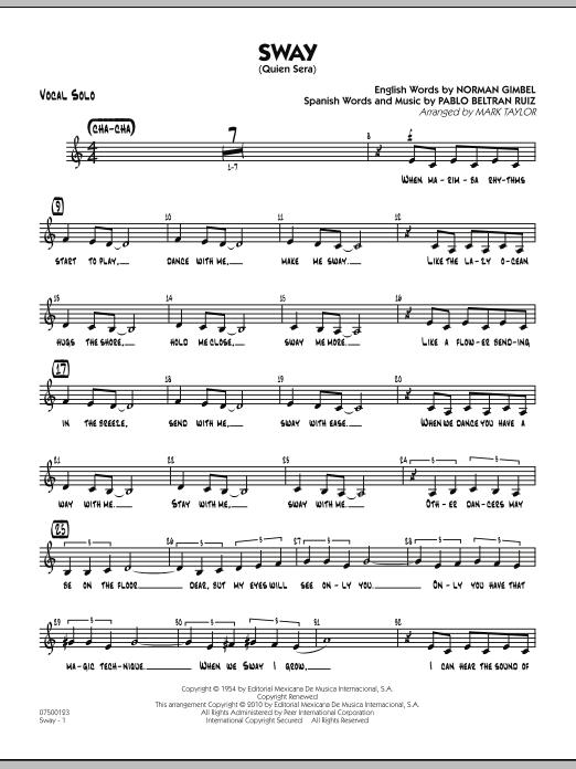 Sway (Quien Sera) - Vocal Solo (Jazz Ensemble)
