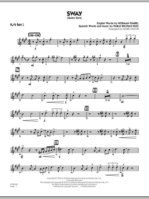 Sway (Quien Sera) - Alto Sax 1 (Jazz Ensemble)