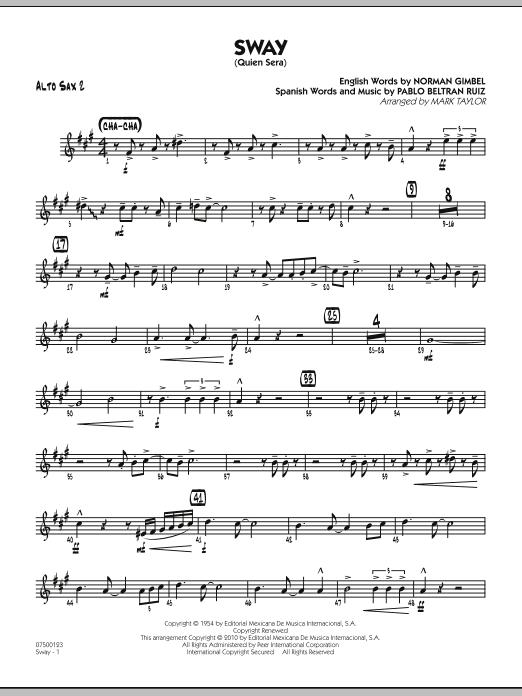 Sway (Quien Sera) - Alto Sax 2 (Jazz Ensemble)