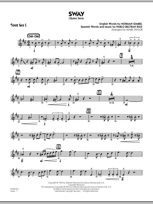Sway (Quien Sera) - Tenor Sax 2 (Jazz Ensemble)
