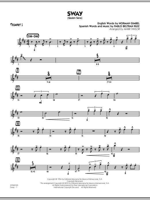 Sway (Quien Sera) - Trumpet 1 (Jazz Ensemble)