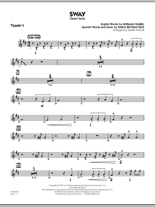 Sway (Quien Sera) - Trumpet 4 (Jazz Ensemble)