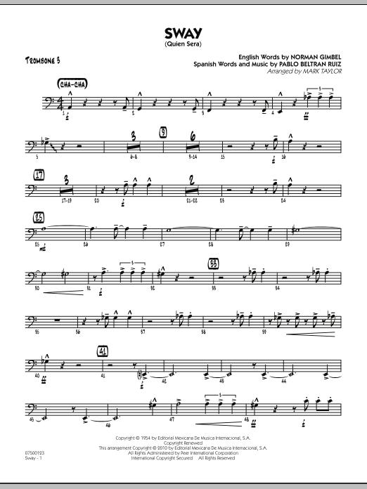 Sway (Quien Sera) - Trombone 3 (Jazz Ensemble)
