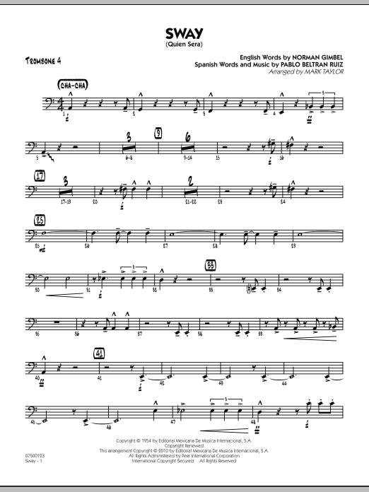 Sway (Quien Sera) - Trombone 4 (Jazz Ensemble)