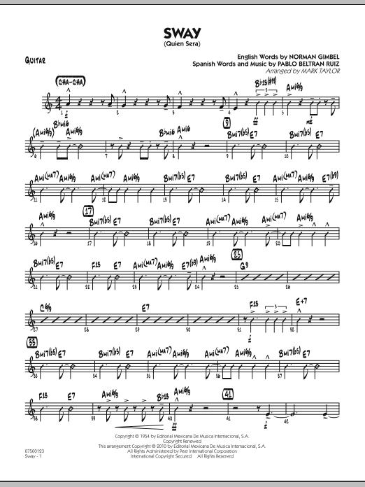 Sway (Quien Sera) - Guitar (Jazz Ensemble)