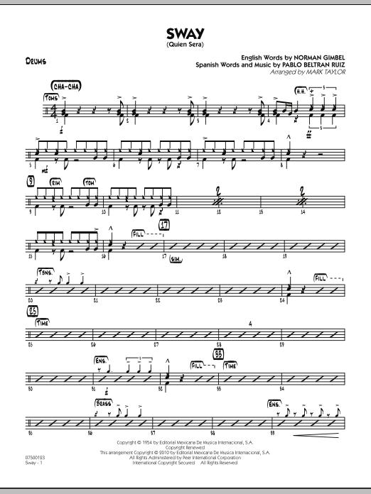 Sway (Quien Sera) - Drums (Jazz Ensemble)