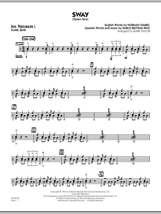 Sway (Quien Sera) - Aux. Percussion 1 (Jazz Ensemble)