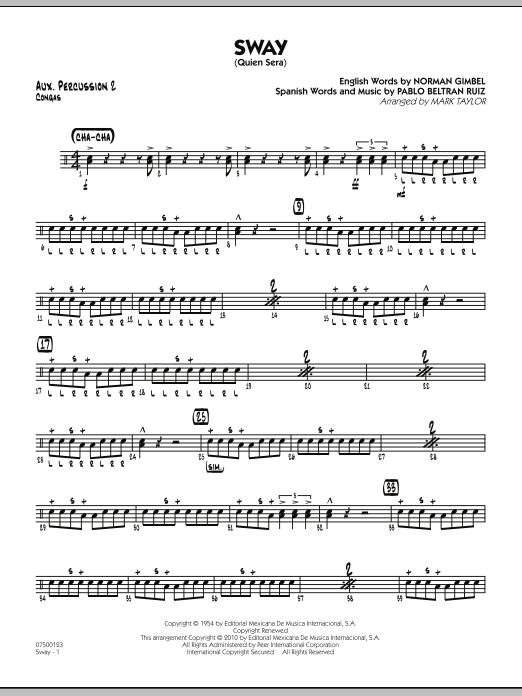Sway (Quien Sera) - Aux. Percussion 2 (Jazz Ensemble)