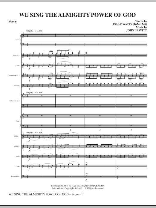 We Sing The Almighty Power Of God - Full Score (Choir Instrumental Pak)