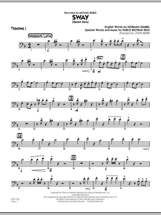 Sway (Quien Sera) - Trombone 1 (Jazz Ensemble)