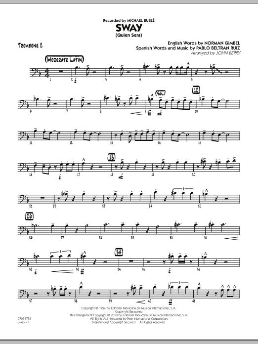 Sway (Quien Sera) - Trombone 2 (Jazz Ensemble)