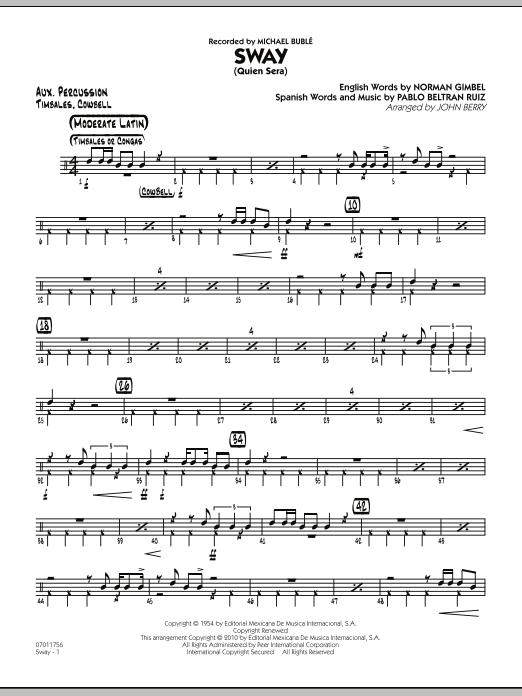 Sway (Quien Sera) - Aux Percussion (Jazz Ensemble)