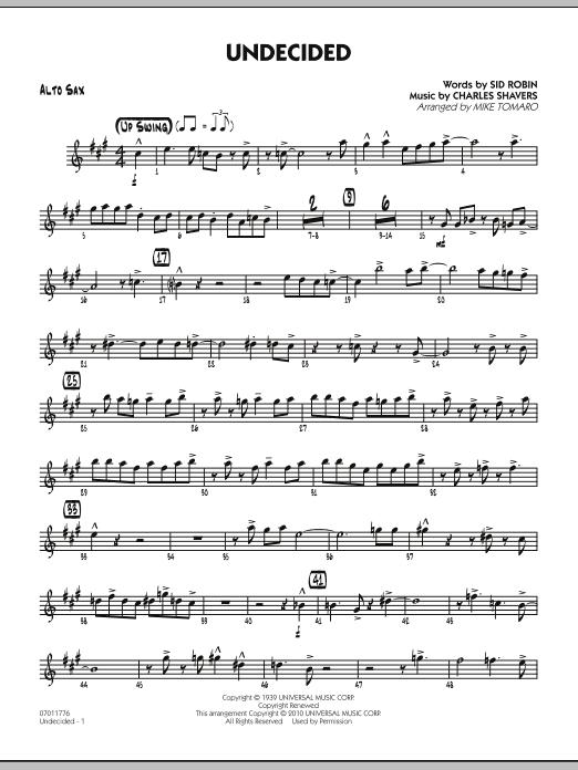 Undecided - Alto Sax (Jazz Ensemble)