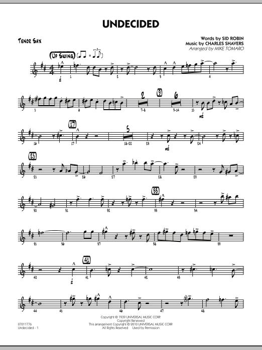 Undecided - Tenor Sax (Jazz Ensemble)