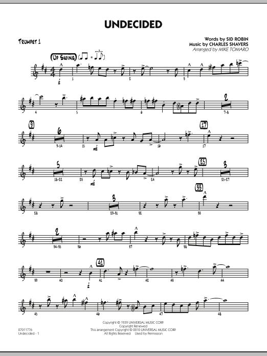 Undecided - Trumpet 1 (Jazz Ensemble)