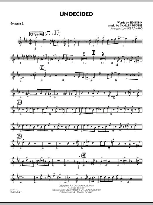 Undecided - Trumpet 2 (Jazz Ensemble)