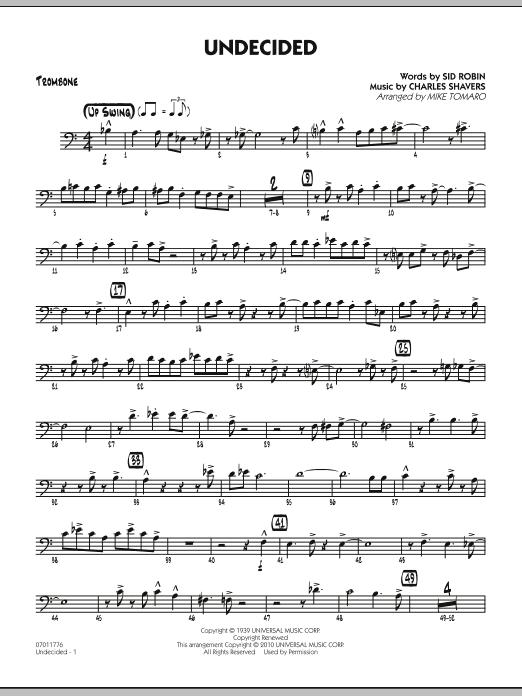 Undecided - Trombone (Jazz Ensemble)