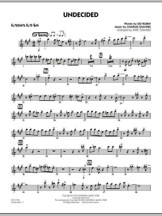 Undecided - Alternate Alto Sax (Jazz Ensemble)